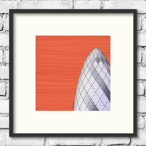 London Art - The Gherkin - Red