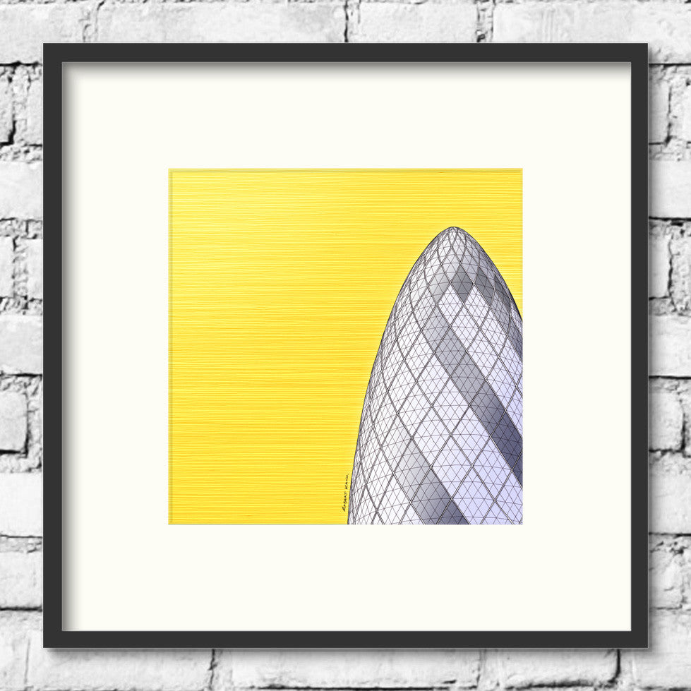 London-Art-Gherkin-30 St Mary Axe--Gold