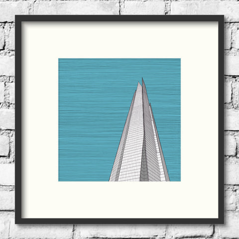 London Art - The Shard - Blue