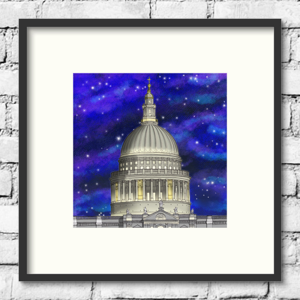 london-art-st-pauls-cathedral-night