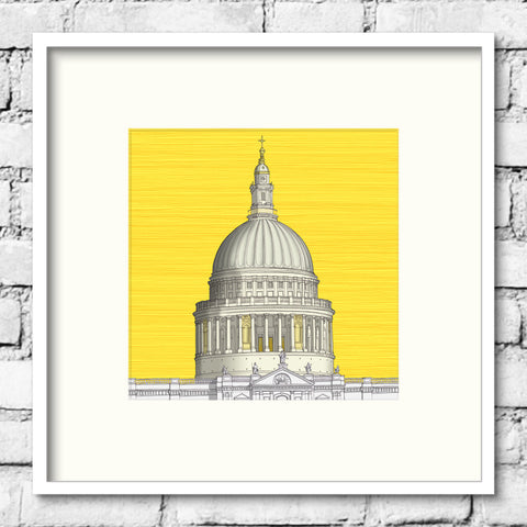London Art - St. Paul's Cathedral - Golden Sky