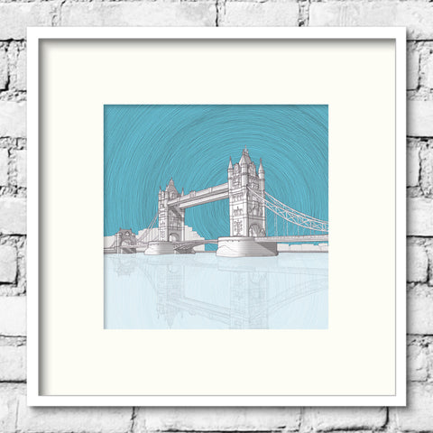 London Art - Tower Bridge - Blue Skies
