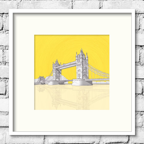 London Art - Tower Bridge - Golden Skies
