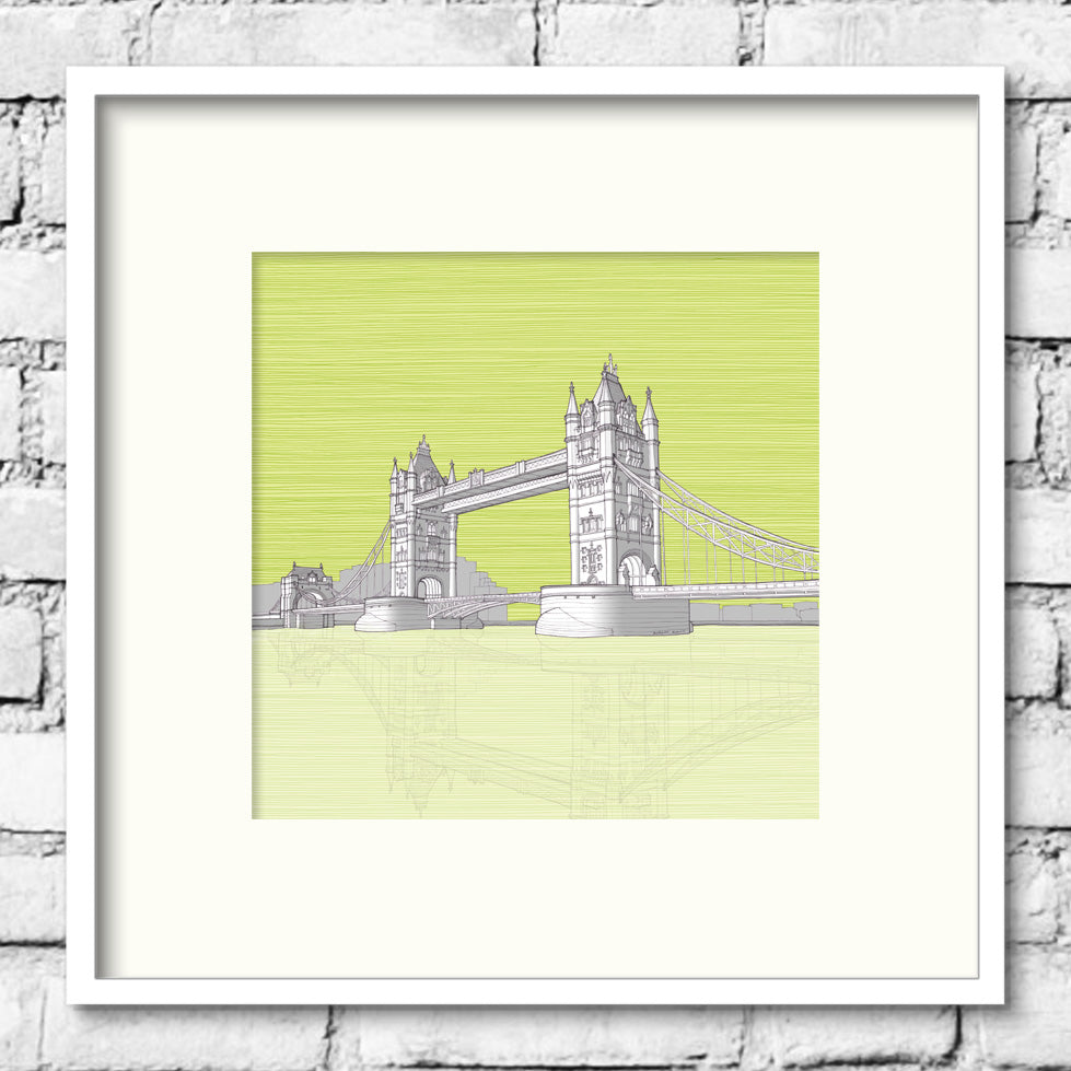 amazing london art - tower bridge