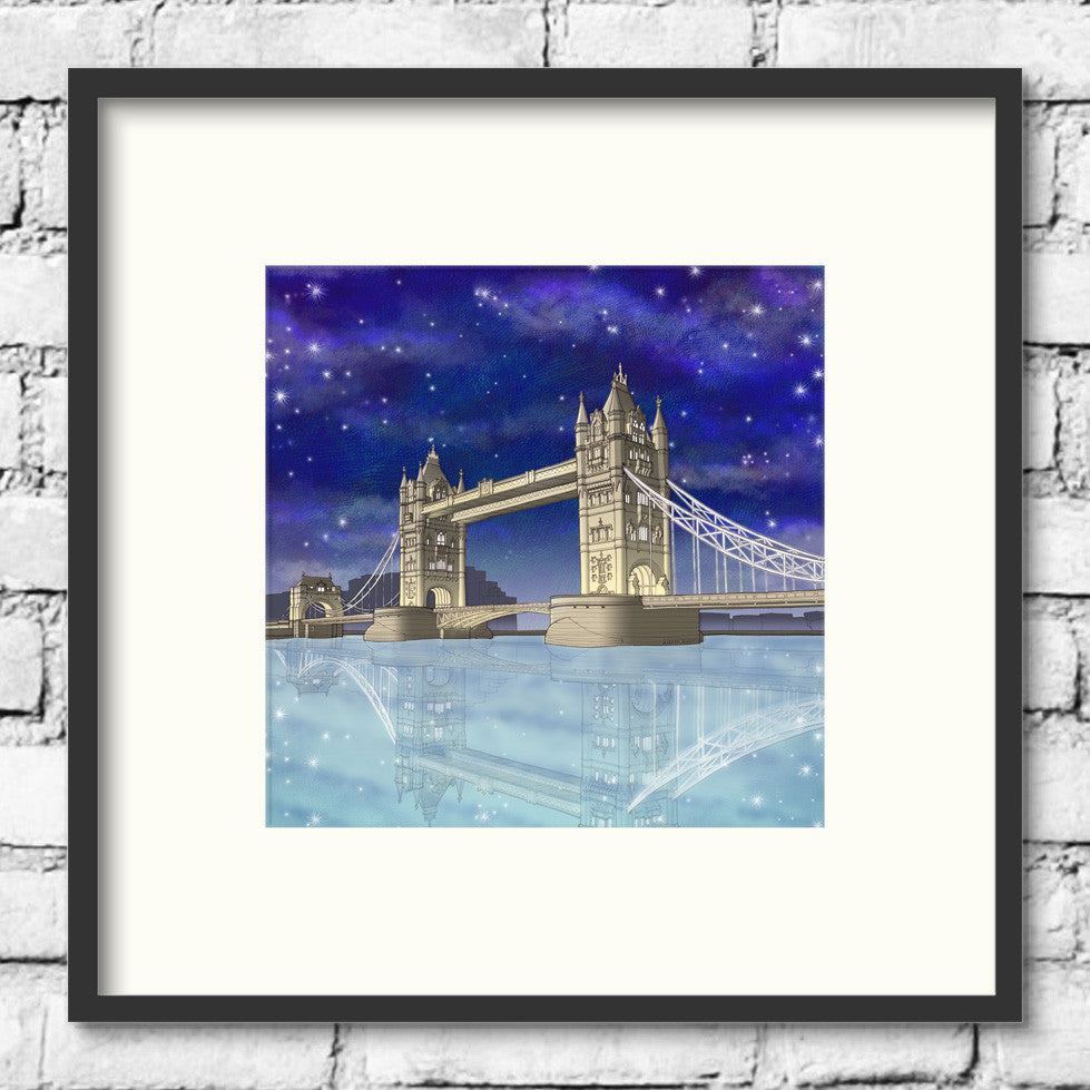 London-Art-Tower-Bridge-Night