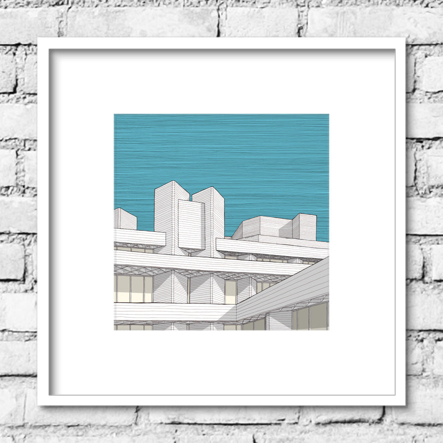 National Theatre Print - Blue Sky