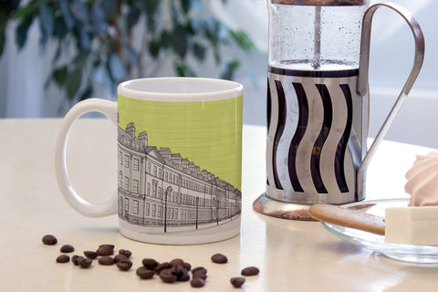 Great Pulteney Street, Bath - Ceramic Mug - Green