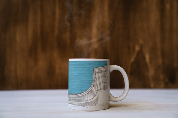 Royal Crescent, Bath - Ceramic Mug - Blue