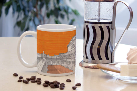 Roman Baths, Bath - Ceramic Mug - Orange