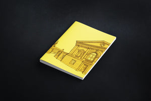 Bath Abbey Square Notebook - Yellow