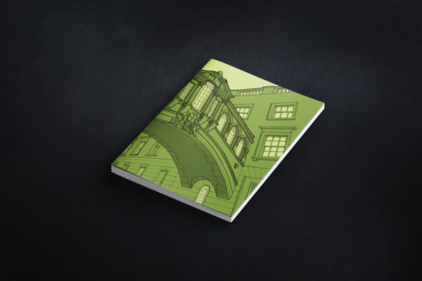Oxford Bridge of Sighs Notebook - Green