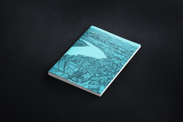London River Thames Notebook - Blue