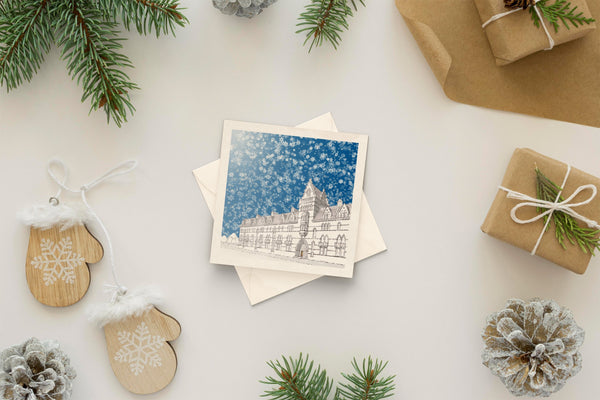 Architectural holiday card - Christ Church College, Oxford