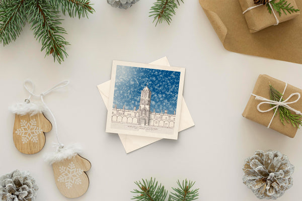 Architectural holiday card - Tom Tower, Oxford