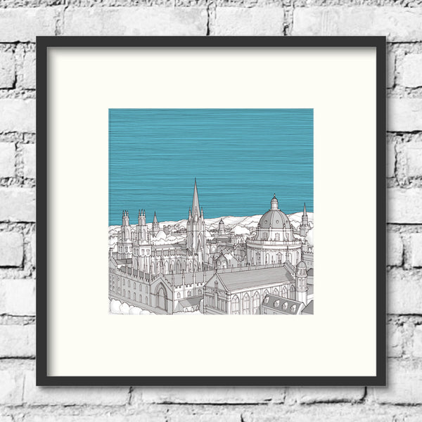 Oxford Spires Print - Blue Skies