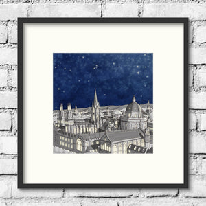 Oxford Spires Print - Night Sky