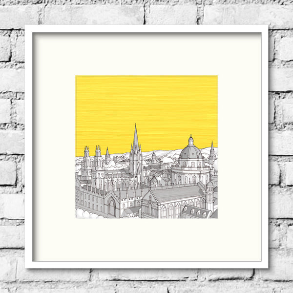 Oxford Spires Print - Yellow Skies