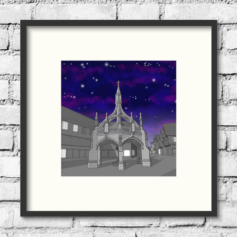 Salisbury Art - Poultry Cross - Night Sky
