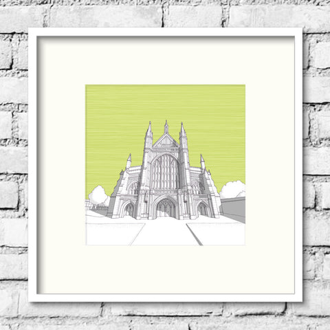 Winchester Art - Winchester Cathedral - Green Skies