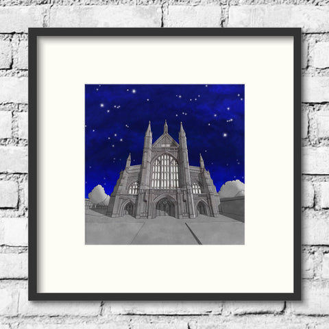 Winchester Art - Winchester Cathedral - Night Sky