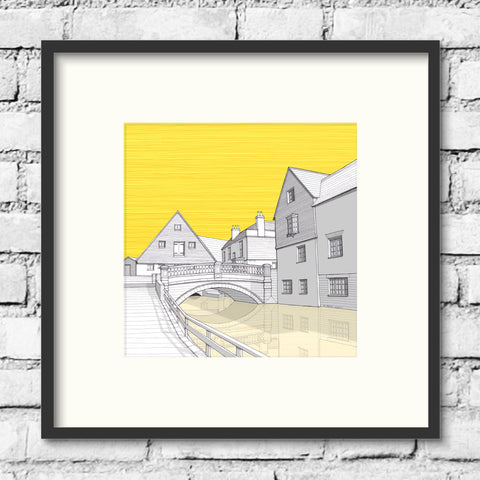 Winchester Art - Old City Mill - Gold Sky