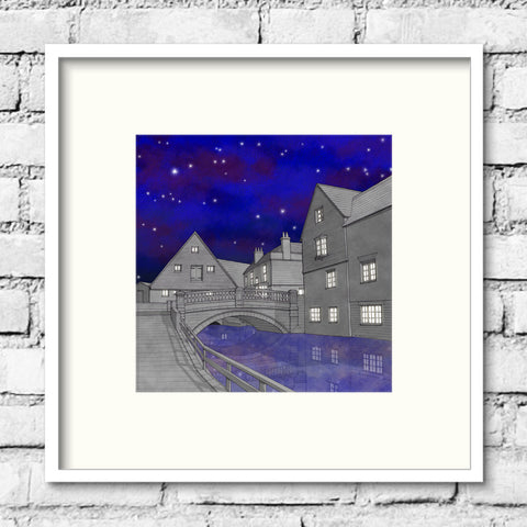 Winchester Art - Old City Mill - Night Sky