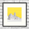 Winchester-guildhall-gold-art-print-illustration