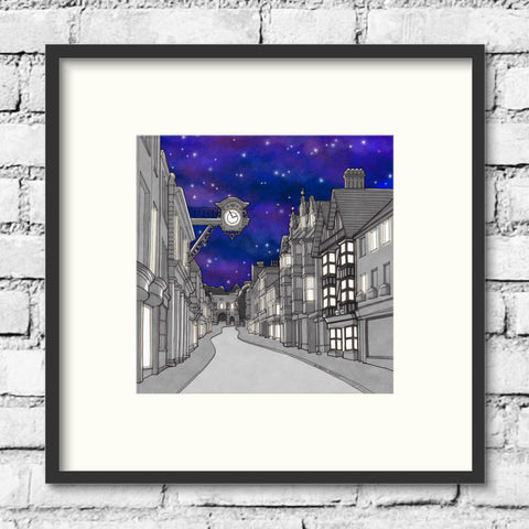 Winchester Art - Winchester High Street - Night Sky