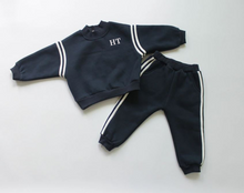 Load image into Gallery viewer, Navy Fleece Tracksuit