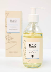 bao skincare face wash with box displayed