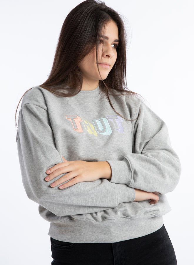 get your vibe on Trut grey melange/juicy mix - sweater
