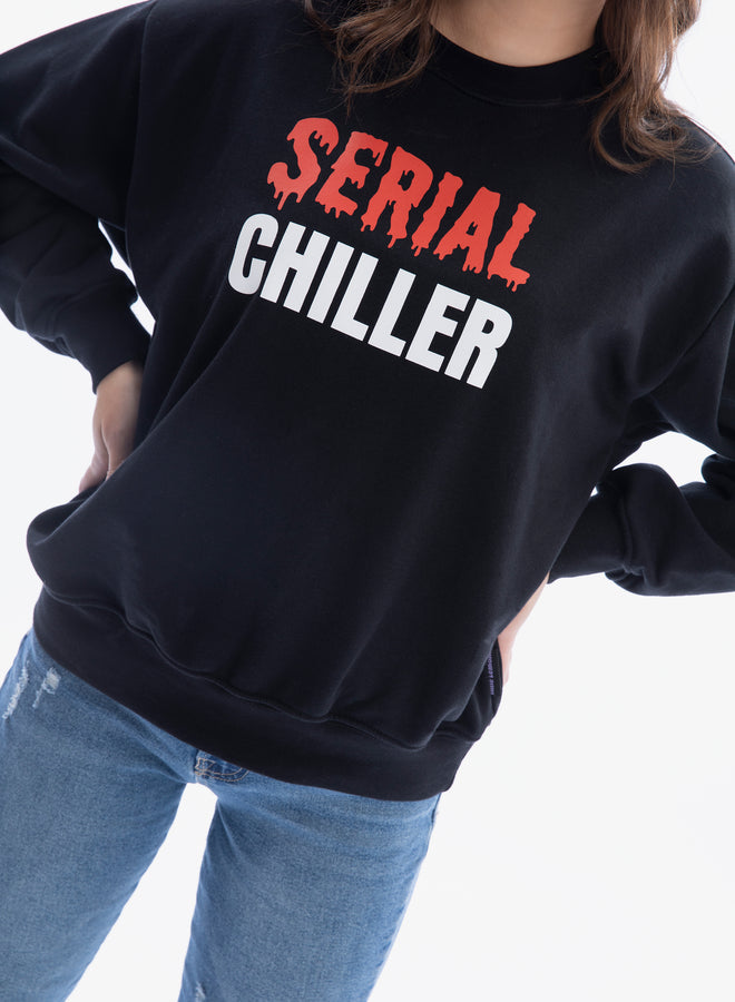 I'm a serial chiller black/white - sweater