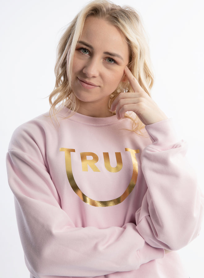 happy Trut sweet pink/gold - sweater