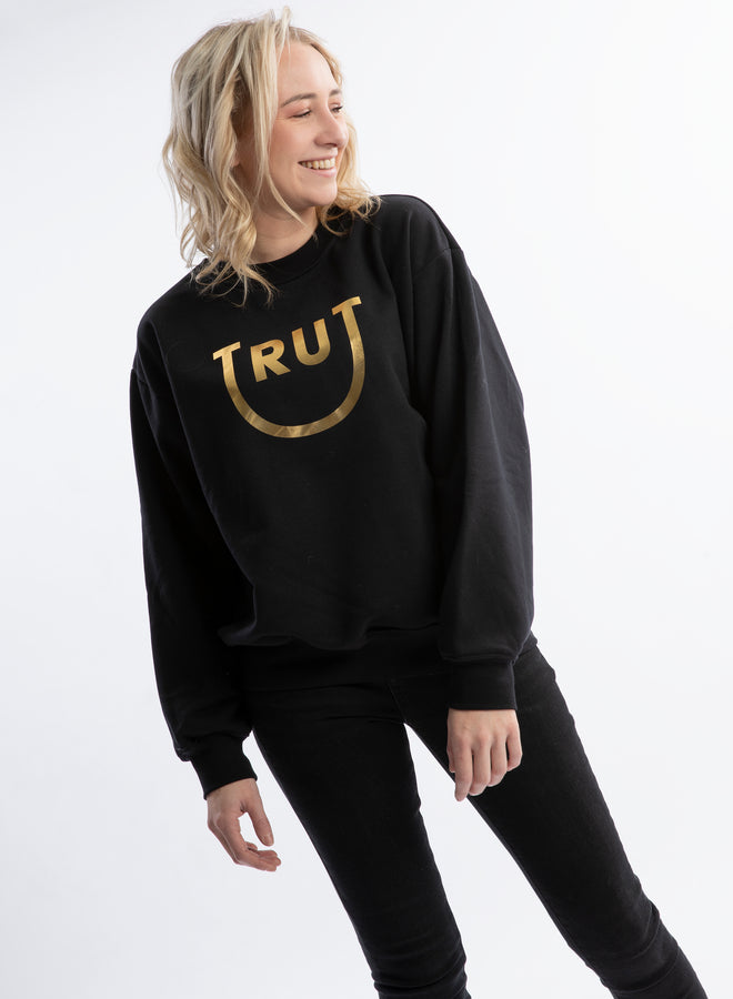 happy Trut black/gold - sweater