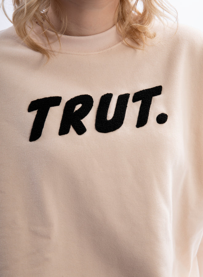 I'm a Trut, end of story cream/black - sweater