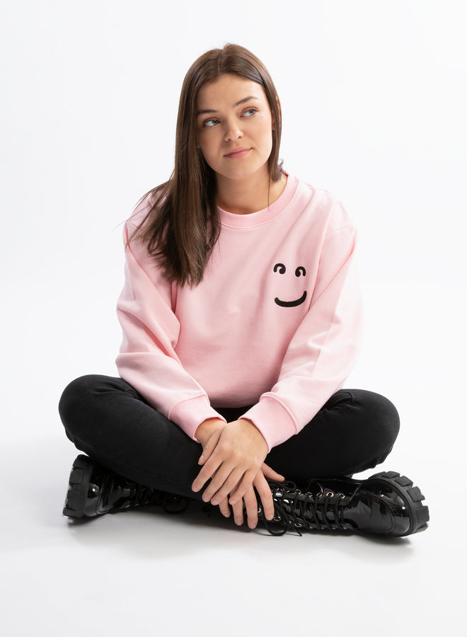 little smile sweet pink/black - sweater