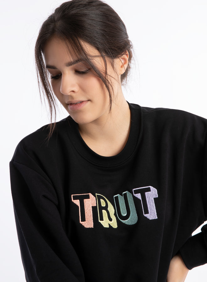 get your vibe on Trut black/juicy mix - sweater