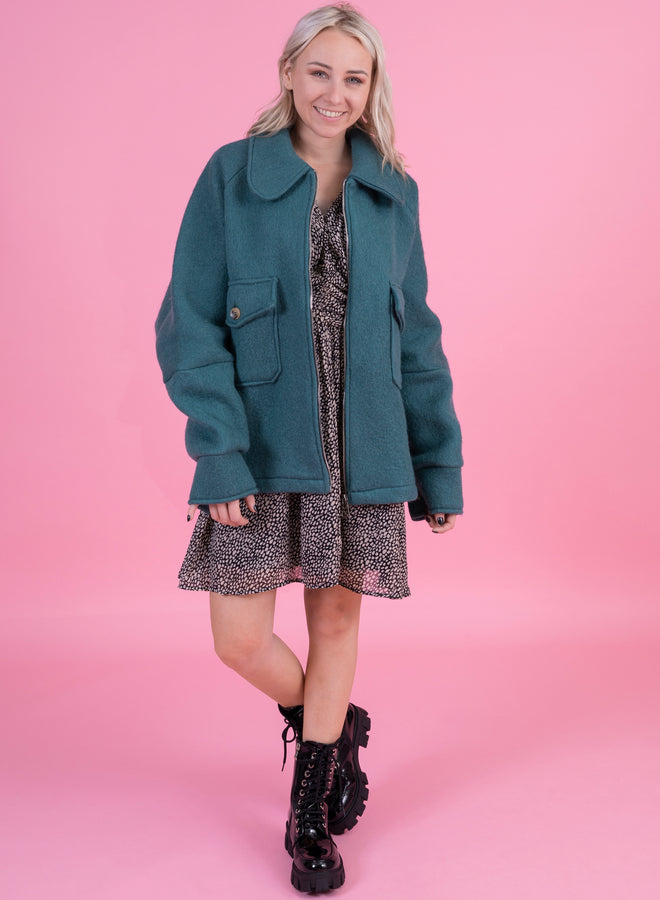 get over it turquoise - jacket