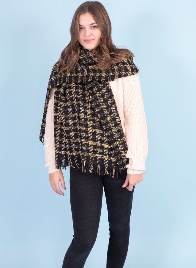 pretty poulette black/gold - sjaal