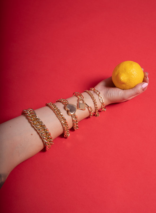 double chain gold - armband