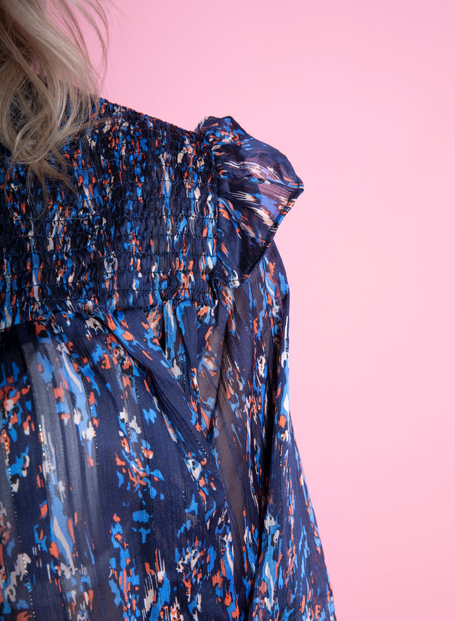 always mysterious blue - blouse
