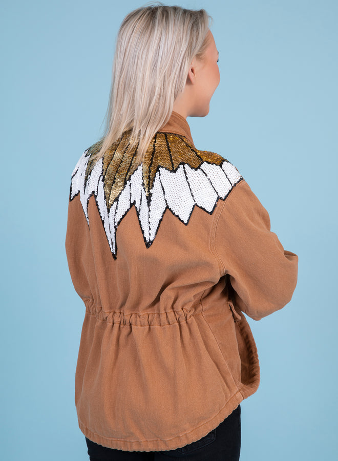 watch my wings camel - jacket