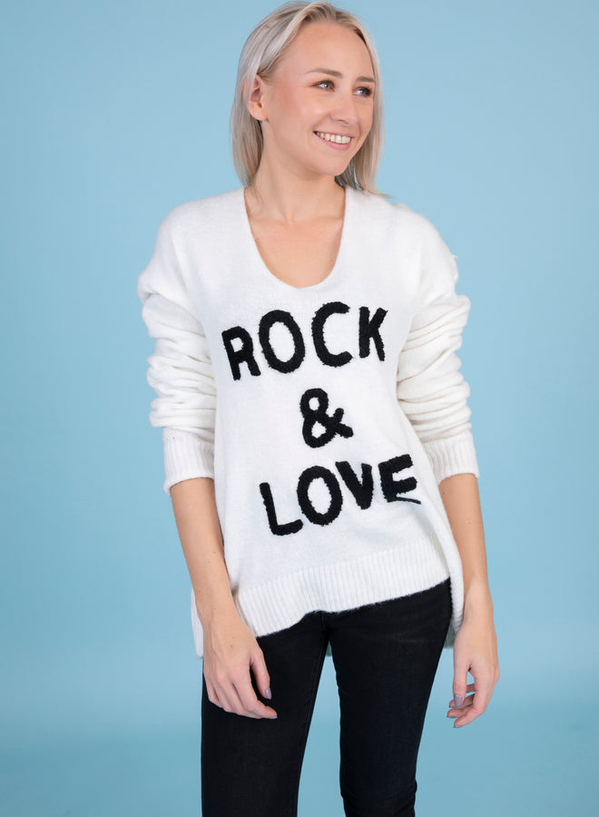 rock & love white - trui
