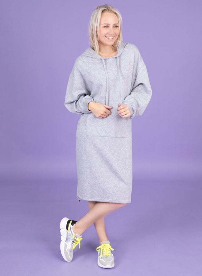 take it easy grey - sweater dress