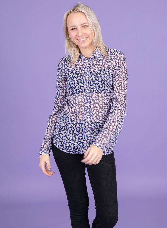 this is my spot dark blue - blouse