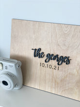 Load image into Gallery viewer, Personalized Last Name Sign Wedding Guestbook Alternative