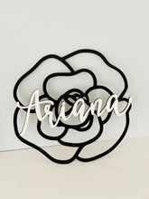 Load image into Gallery viewer, Personalized Camellia Name Sign