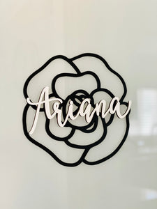 Personalized Camellia Name Sign