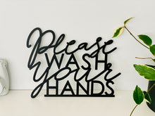 "Load image into Gallery viewer, Please Wash Your Hands Sign, 12""x9"""