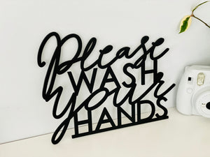 "Please Wash Your Hands Sign, 12""x9"""